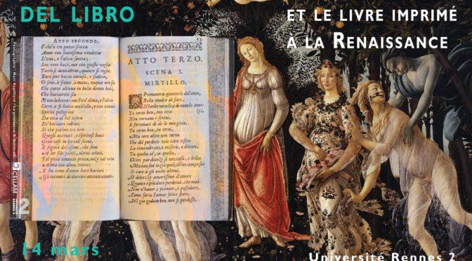 EDITEF et l'exposition «La Primavera del libro. Les Italiens et le livre imprimé à la Renaissance»